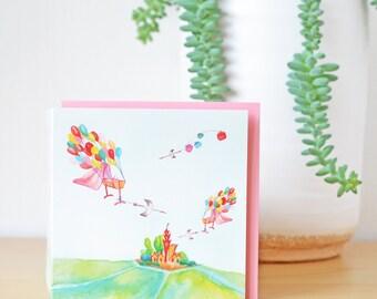 Baby card - Congratulations birth card - Baby twins - New baby card - Geboortekaartje