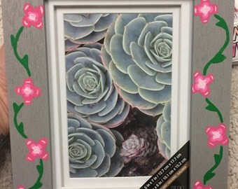 big little sorority flower frame