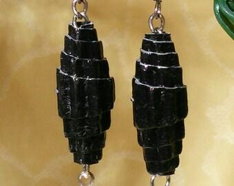 Scarlett - earrings with paper beads