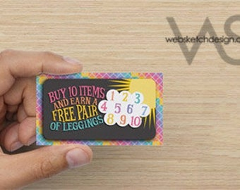 Cloud Sign-Off Card Design - Rainbow Sun Cloud 10 Ten Leggings promotion free Consultant sunny
