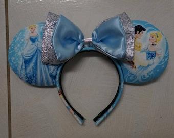 Cinderella Blue/Silver Disney Ears