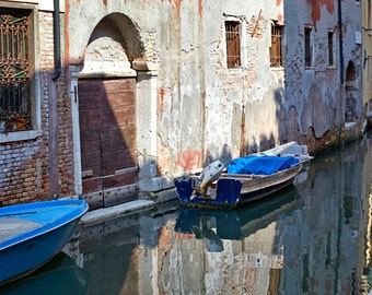 "Venice, Italy reflections in the canal. Digital file 24x36 hi res. 300 dpi ""VENICE REFLECTIONS"""