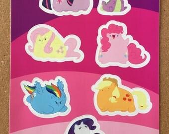Ponyblobs My Little Pony Sticker Sheet