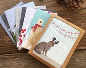 christmas cards boxed set / assorted cards / make your own boxed set