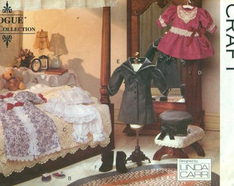 Vogue 8241 Victorian Doll Clothes LINDA CARR ©1991 Also Issued as Vogue 417
