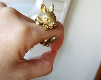 Rabbit Bronze Ring
