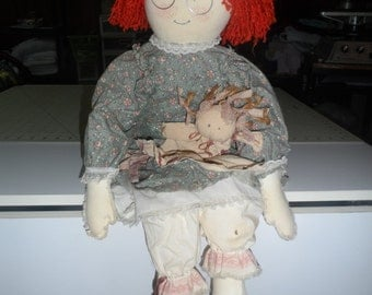 "sally sunshine rag doll 24"" ooak handmade doll"
