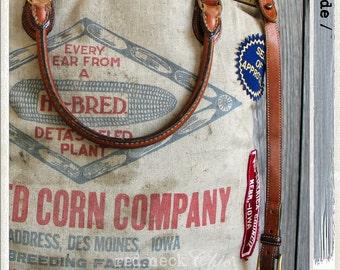 red.neck Chic introduces / mau.de / - large bucket bag / bucket tote / corn seed bag / seed bag / handmade bucket / canvas bucket bag