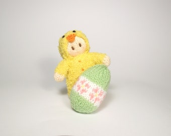 Easter Chick Bitsy Baby Doll Knitting Pattern