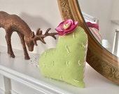Heart Cactus - plush pillow - valentines cactus -