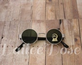 Round Sunglasses | Vintage Deadstock Sunglasses | Dark Gray Lenses | SG1273