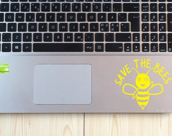 Save the Bees Vinyl Decal ~ Bee Laptop Decal ~ Honeybees Decal ~ Window Decal ~ Car Decal ~ Honeybee Sticker ~ Queen Bee ~ Tumbler Decal