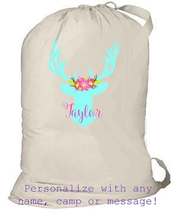 Summer Camp Bag, Overnight Bag, children's sleepover bag, personalized canvas beach bag, summer beach bag, monogrammed laundry bag, grad