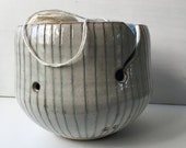 Reserved for Cathy:  Striped yarn bowl