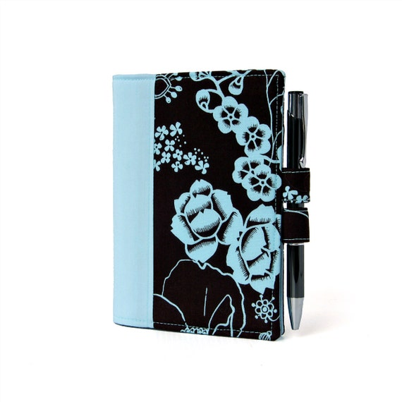 Blue Floral Little List Keeper, Mini notepad clutch, Day planner portfolio, Teacher gift, To do list, Notepad, Coupon holder, Purse notepad