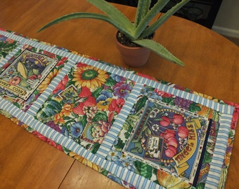 Secrets of the Garden Quilted Table Runner