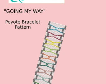 Going My Way Peyote Bracelet Pattern