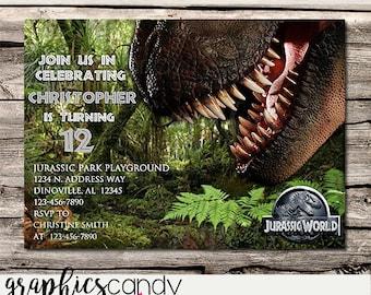 Dinosaur Invitation - T-Rex - Jurassic World - Editable - Printable - DIY - Digital File - INSTANT DOWNLOAD - Shower - Wedding