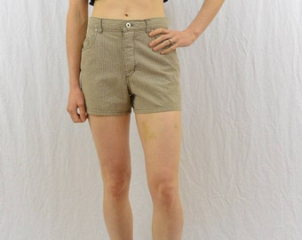 Vintage High Waisted Checked Shorts, Size XS-Small, Grunge, 90's Clothing, Plaid Shorts, My So Called Life, Tumblr Clothing