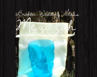 Broken Glass Shards Wedding Mezuzah