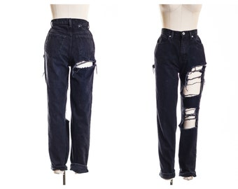 NEW All Sizes Distress BLACK  Mom Jeans also in Plus Sizes