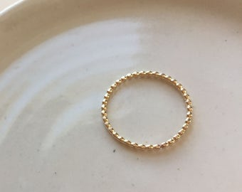 Gold Dot Ring,  14k gold fill