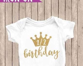 Half Birthday Iron- On, Half Birthday Shirt, Half Birthday Onesie, Half Birthday Shirt, Princess Half Birthday, Prince Half Birthday
