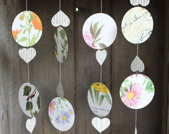 Hot Air Balloon Garland, Flower Garland, Wedding Garland, Wedding Decoration, Paper Garland, Floral Bunting, 10 feet long