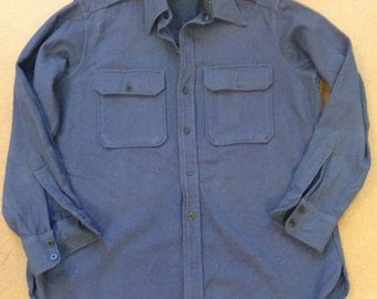 WWII Regulation Air Force Navy Blue Wool Shirt Militaria London Shrunk