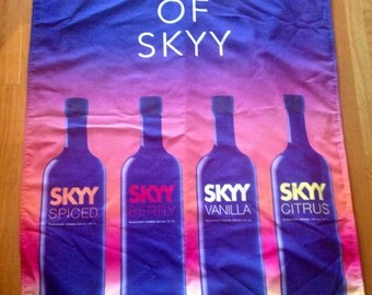 Sale Absolute SKYY VODKA Sign- Large Advertising Cloth Banner- Liquor Store Bar Man Cave Advertisement Store Display