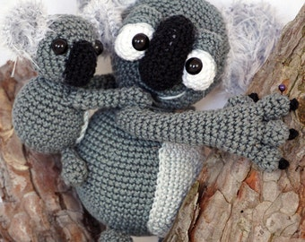 Amigurumi Crochet Pattern - Kleo and Kloe the Koalas
