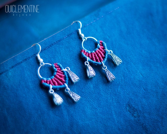 Maya macrame earrings