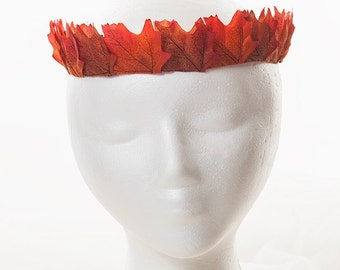 Orange and Red Fall Leaf Crown