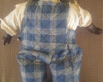 Early 20th Century Black Wax Doll