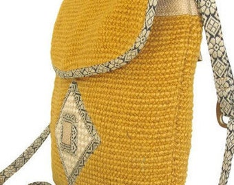 Designer New Jute Shoulder Bag Rummy Style in Yellow, Green, Purple, Blue, Brown Colors