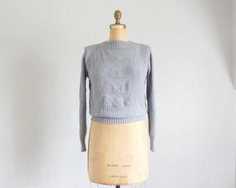 80s dove grey cotton izod sweater