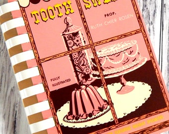 Vintage Cookbook. Recipe Book. Vintage Pink Books. Recipe Cards. Kitchen Ephemera. Recipe Journal. Scrapbook Ephemera. Vintage Book Set.