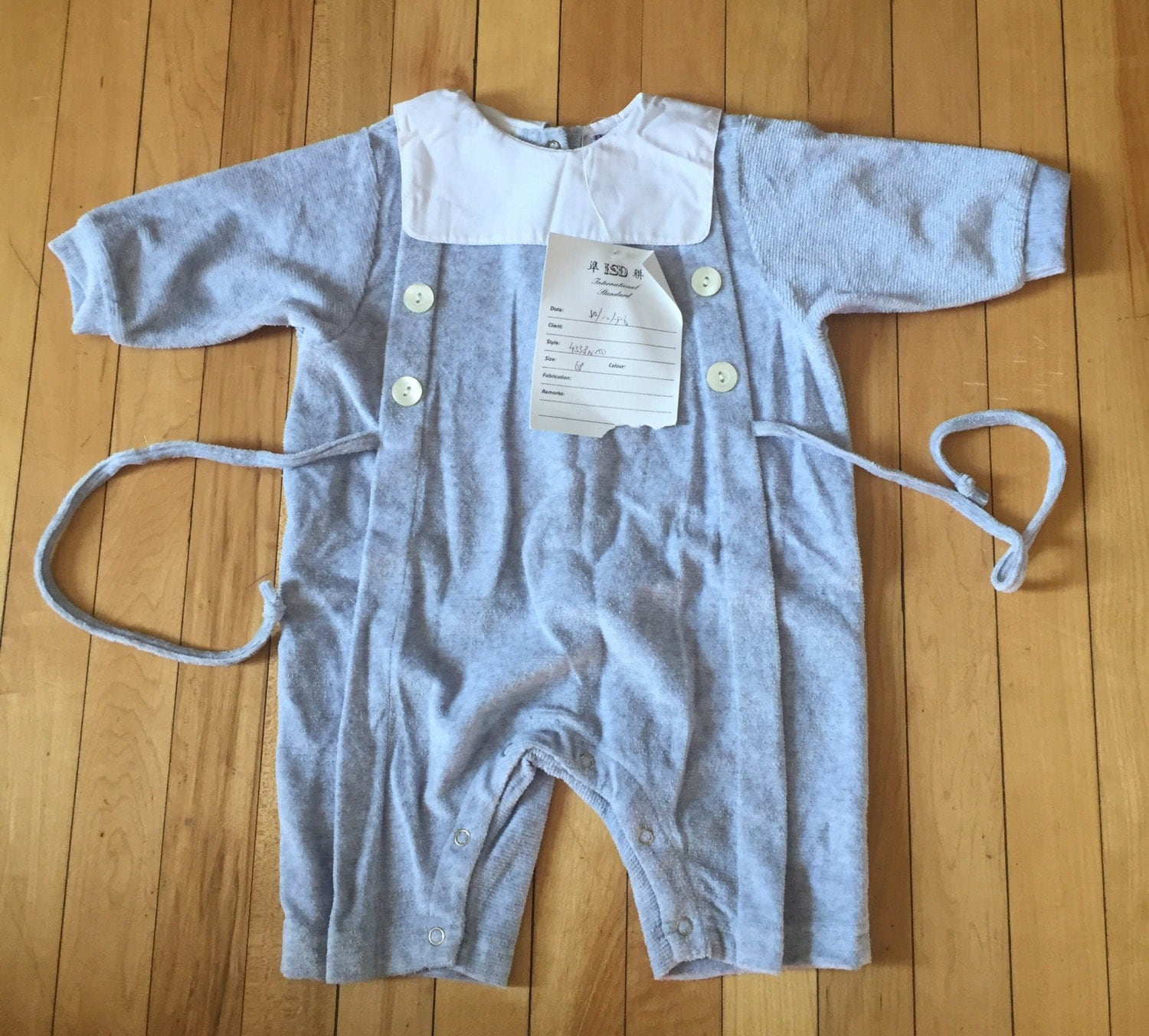 74ee4cd4b Vintage 1980s Baby Infant Boys Blue One Piece Romper Outfit! Size 6 ...