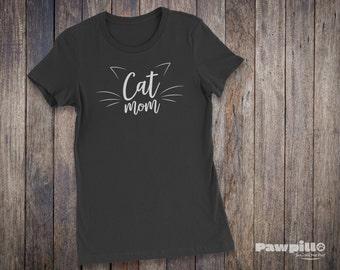 Cat Mom T-Shirt - Pet Shirts - Pet T-shirts - Pet Lover Shirt - Cat Lover Clothing - Pet Clothing - Cat Shirts - Cat T-Shirts - Funny Shirt