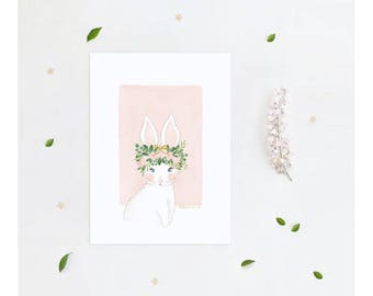 Art Print Poster The Beautiful Lady Series - Annabelle The Rabbit