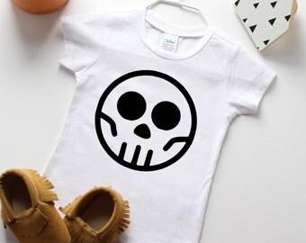 Skull Clothing - Baby Boy Skull Shirt - Unique Kids Clothes - Punk Baby Clothes - Toddler Boy Shirt - Monochrome Baby - Trendy Toddler