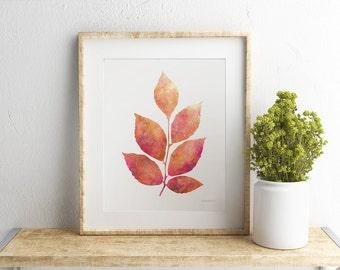 Nature print, Brown Leaves print, Home Wall art, Home wall decor art print, Digital PRINTABLE Gift, Botanical print, Instant download print
