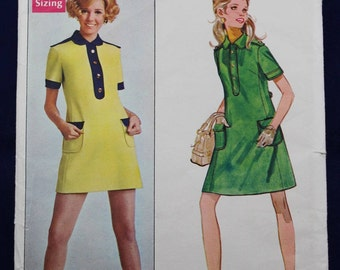 1960's Sewing Pattern for a Woman's Dress in Size 10 - Butterick 5344