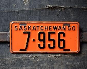1950 Saskatchewan License Plate - 7-956