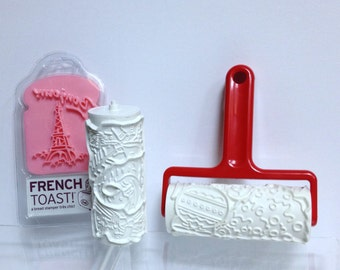 Vintage Cookie Rollers Cookie Cutters Christmas Cookie Eiffel Tower French Toast Germany Hutzler RollEm Christmas Scandinavian Design Roller