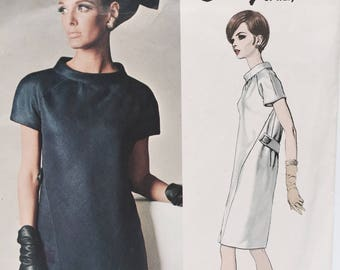 Vintage 60s Vogue Couturier 1660 Galitzine Dress Sewing Pattern Size 10