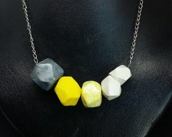 geometric beads pendant
