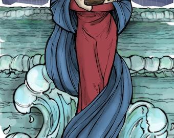 Stella Maris - Star of the Sea, Marian Holy Card