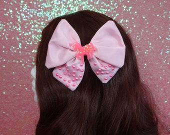 High Kawaii Pop Kei Magical Girl Unicorn Pearl Drop Twin Tail Bow