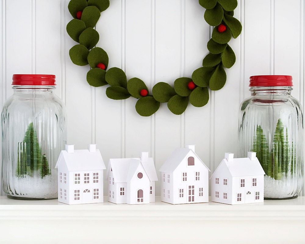DIY Putz Village Christmas Decorations DIY Christmas Putz
